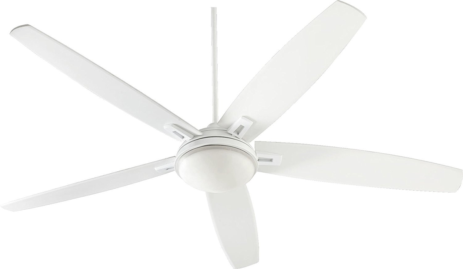 "Quorum 81725-8, Vector Studio White 72"" Ceiling Fan with Light & Wall Control"