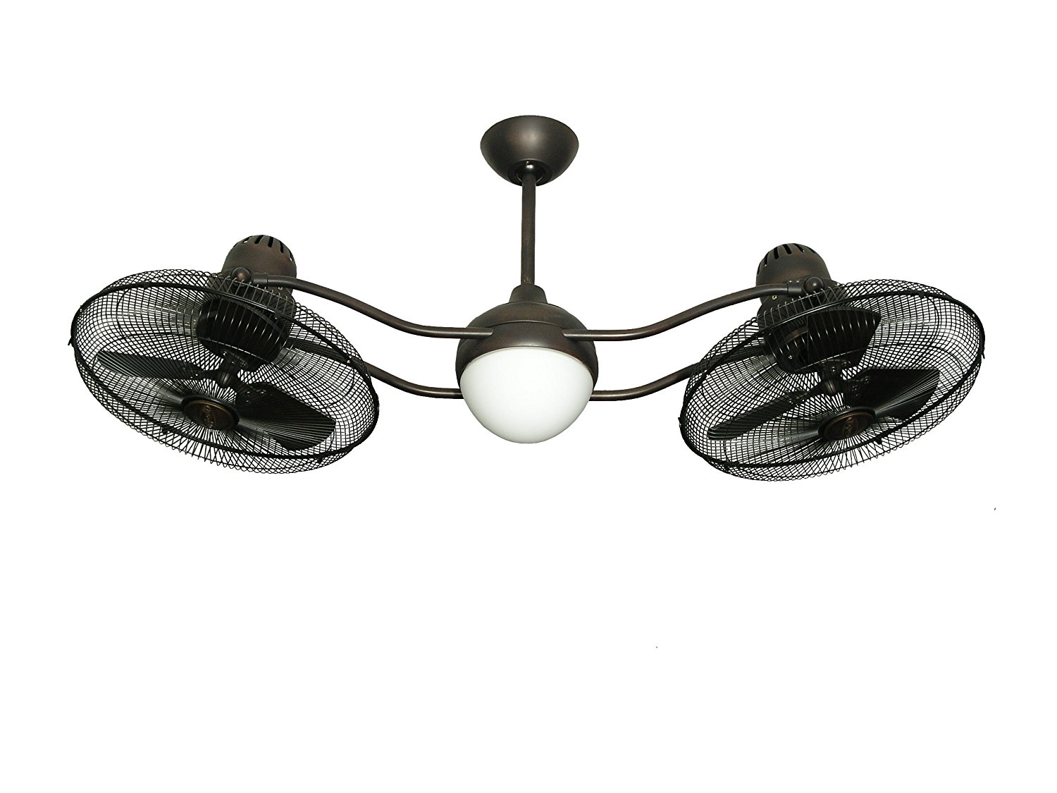 TroposAir Duet Oscillating Dual Ceiling Fan in Oil Rubbed Bronze