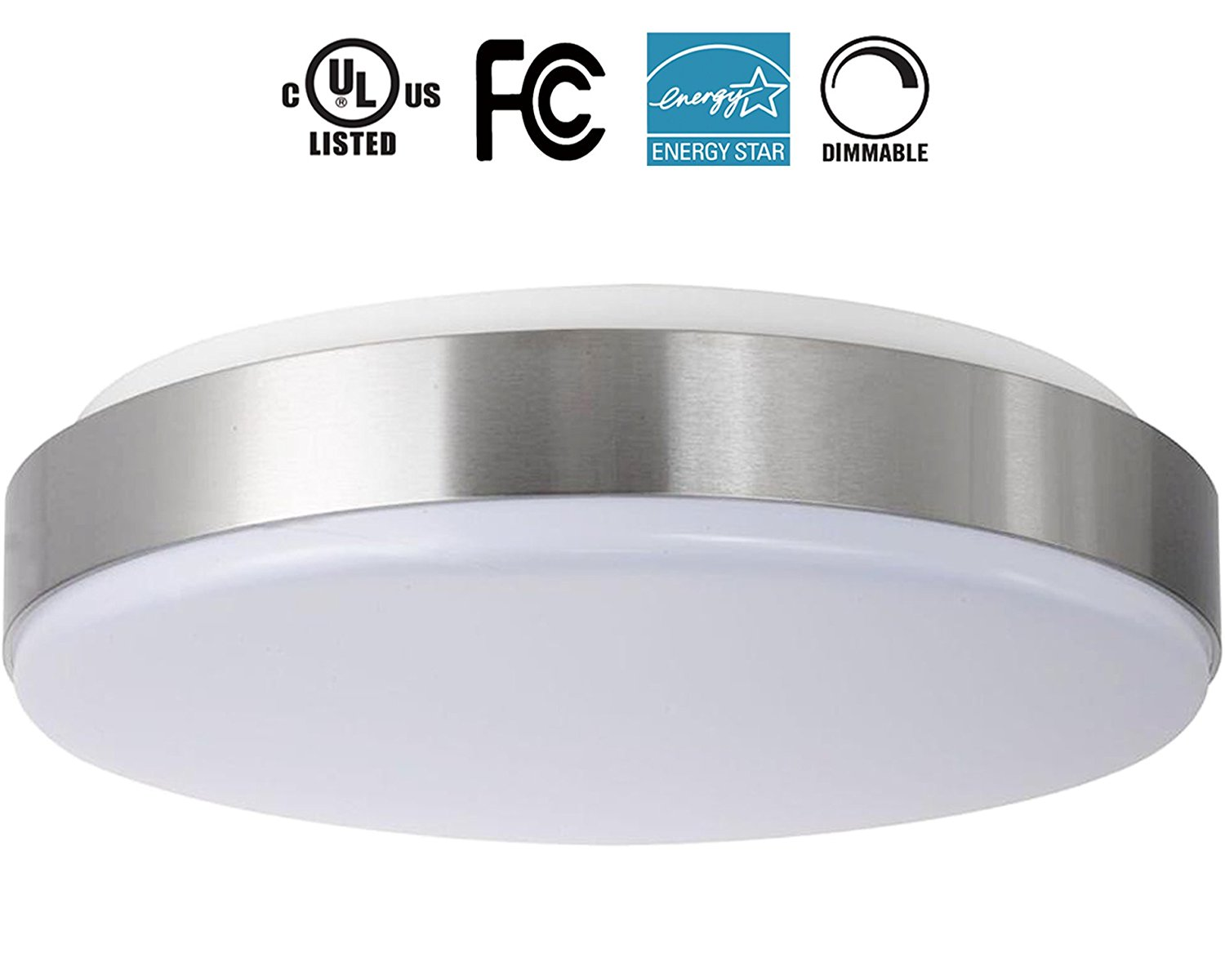 22W 15-Inch Natural light White Dimmable LED Ceiling Lights, 200W Incandescent (50-100W Fluorescent) Bulb Equivalent, 4000K, Ceiling Light Fixture, Ceiling Lighting, Flush Mount Light 4000K.