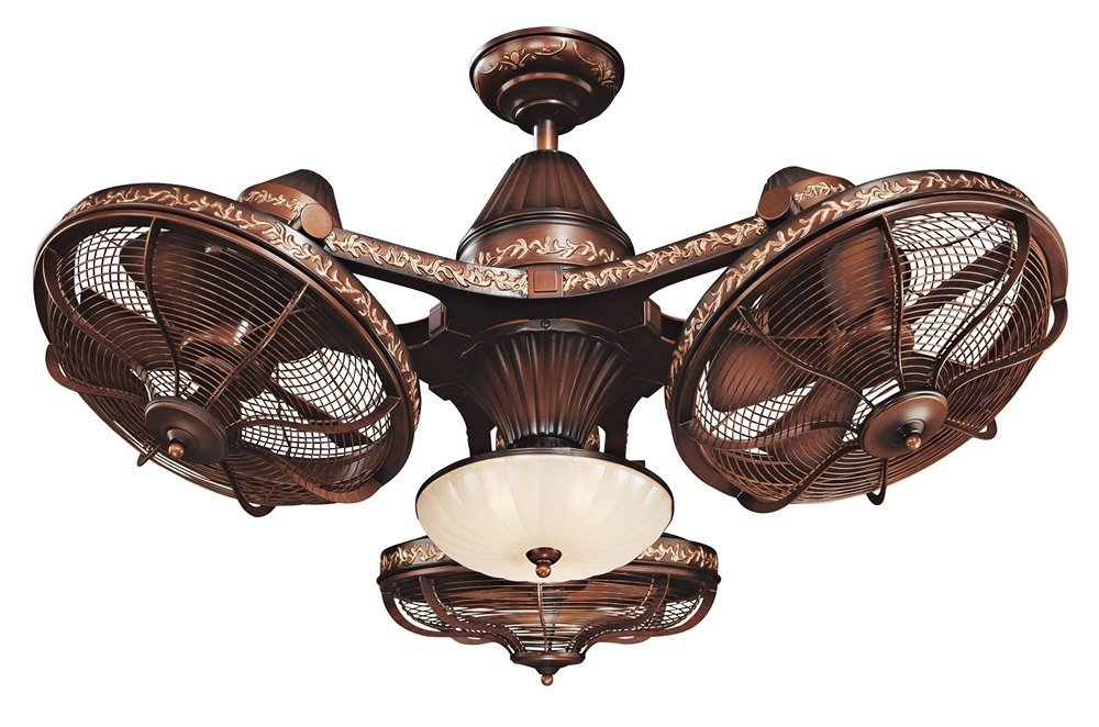 "38"" Esquire Rich Bronze Finish 3-Head Ceiling Fan"