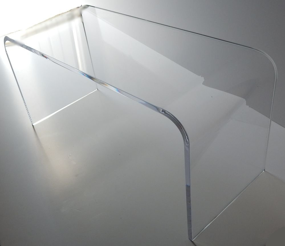 "Acrylic Coffee Waterfall Table Lucite 44"" Long X 16 X 16"" High"