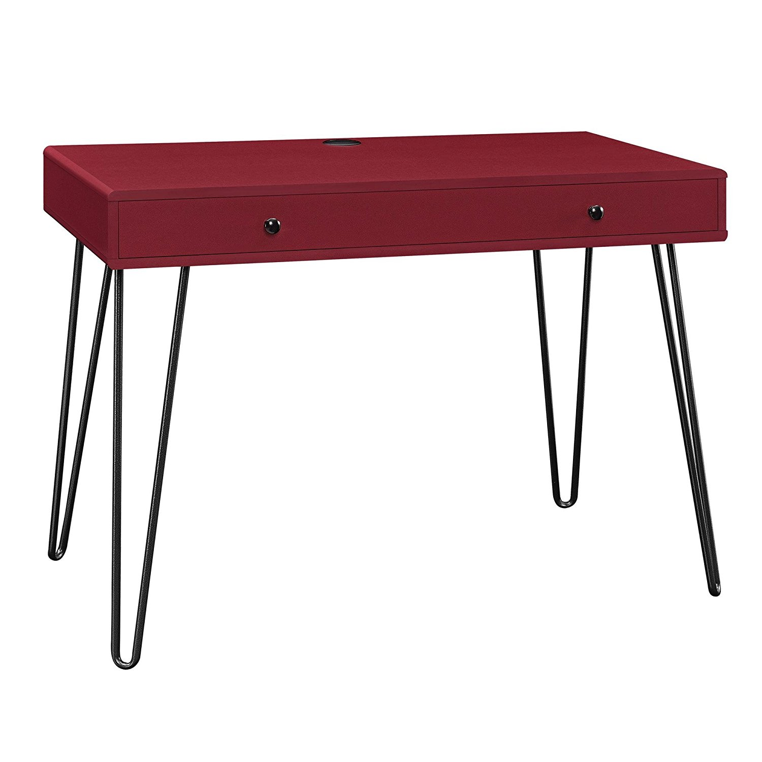 Altra Furniture Owen Retro Student Desk, Red