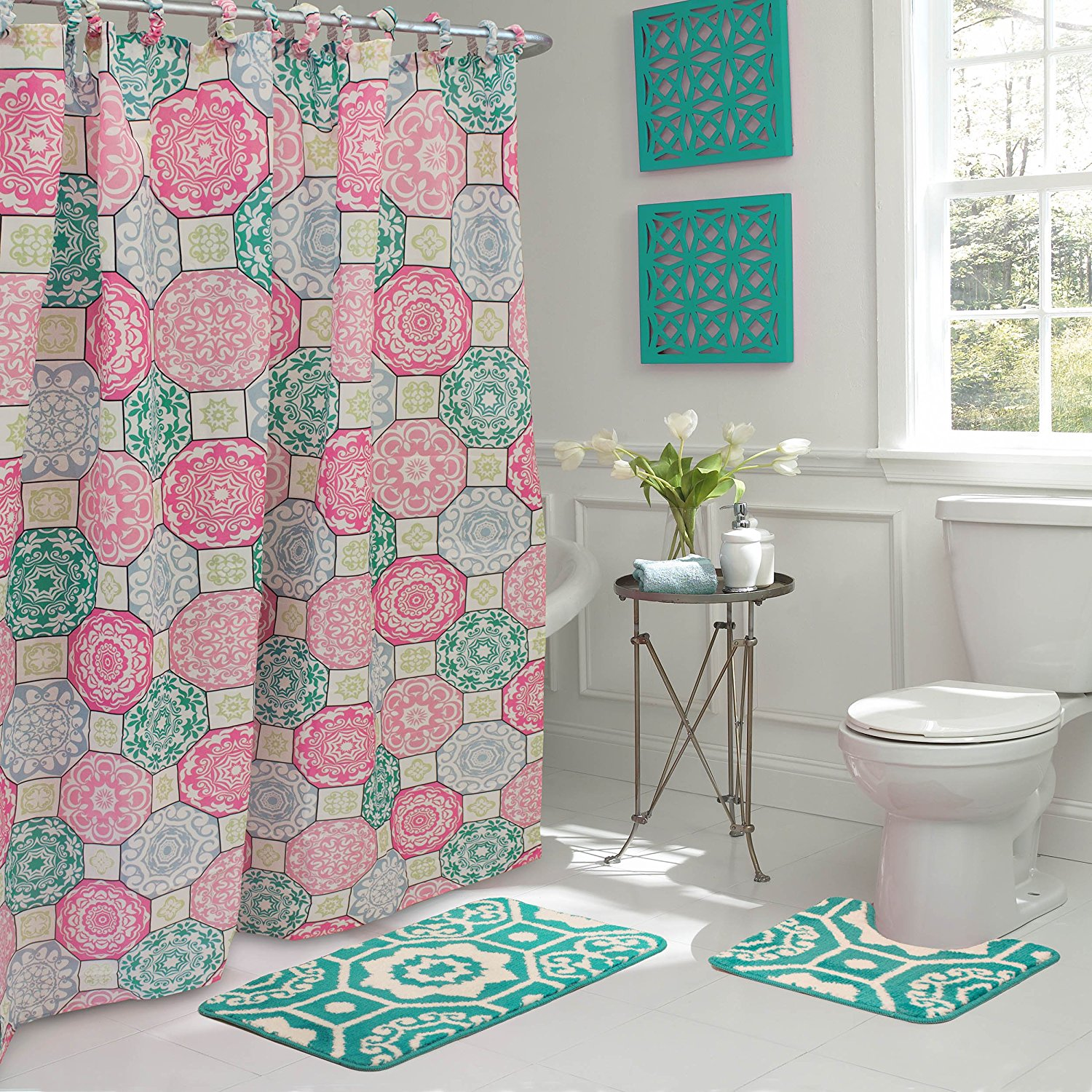 Bathroom sets with shower curtain and rugs selection for Addison interior design decoration wordpress theme nulled