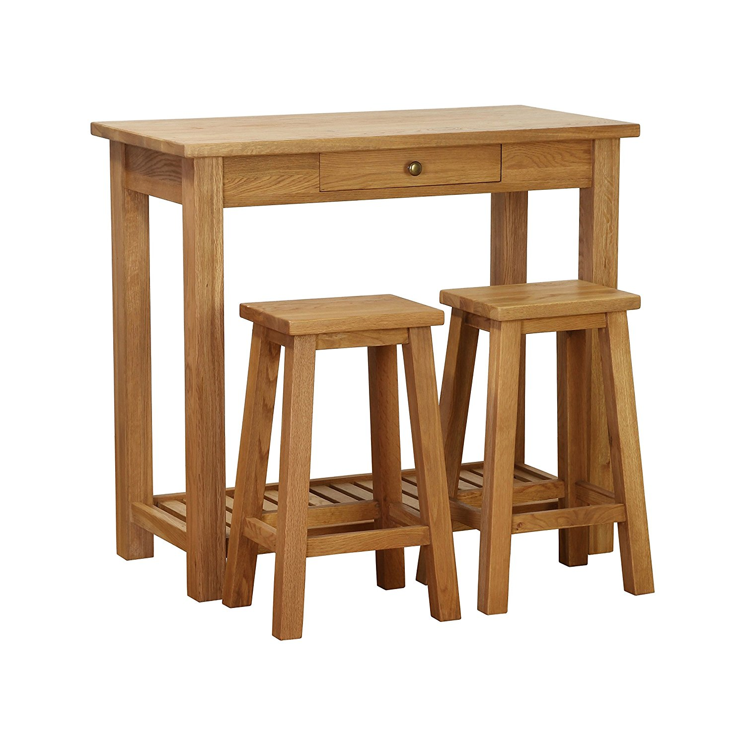 Besp-oak Vancouver Breakfast Table with Two (2) Stools
