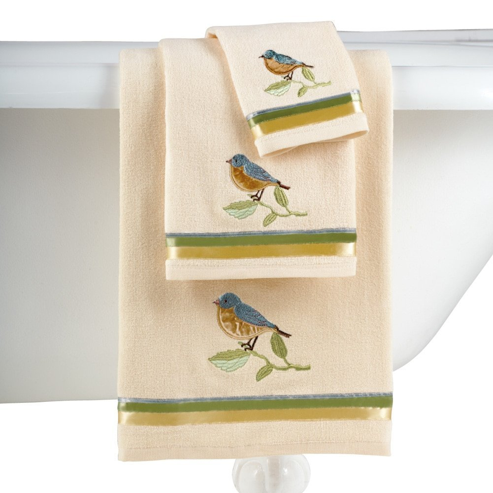 Birds And Blooms Bathroom Towel Set