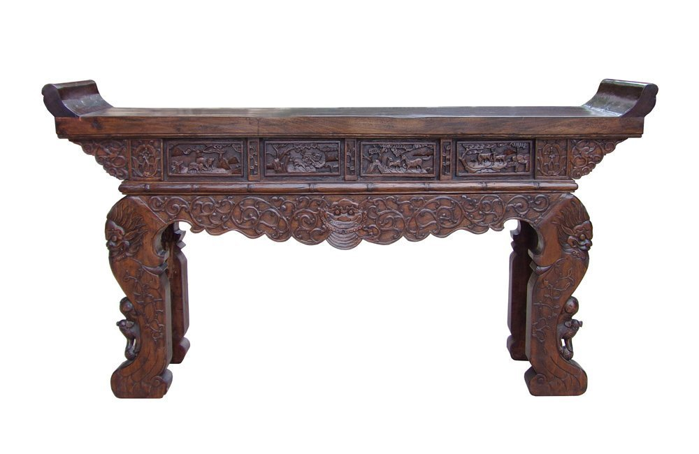 Chinese Vintage Tall Altar Shrine Display Console Table Acs1498
