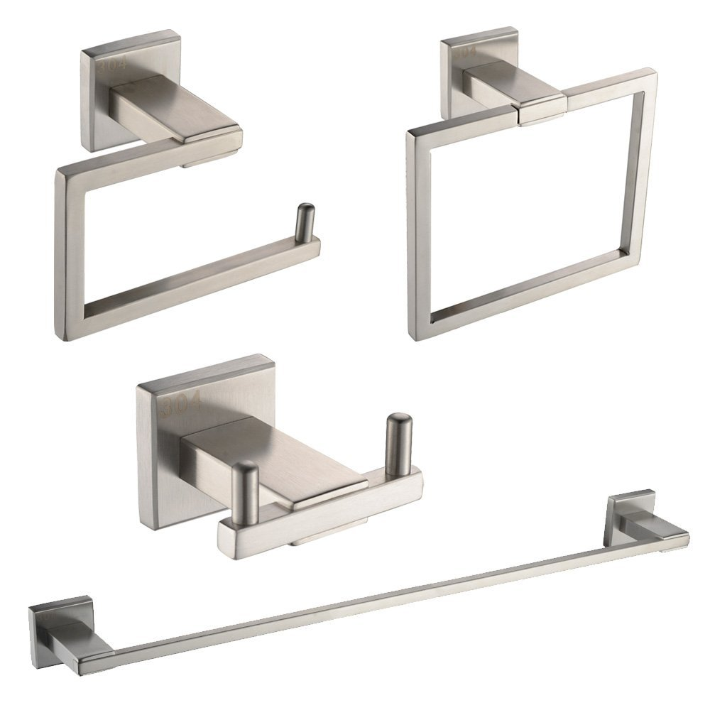 KES SUS 304 Stainless Steel 4-Piece Bathroom Accessory Set