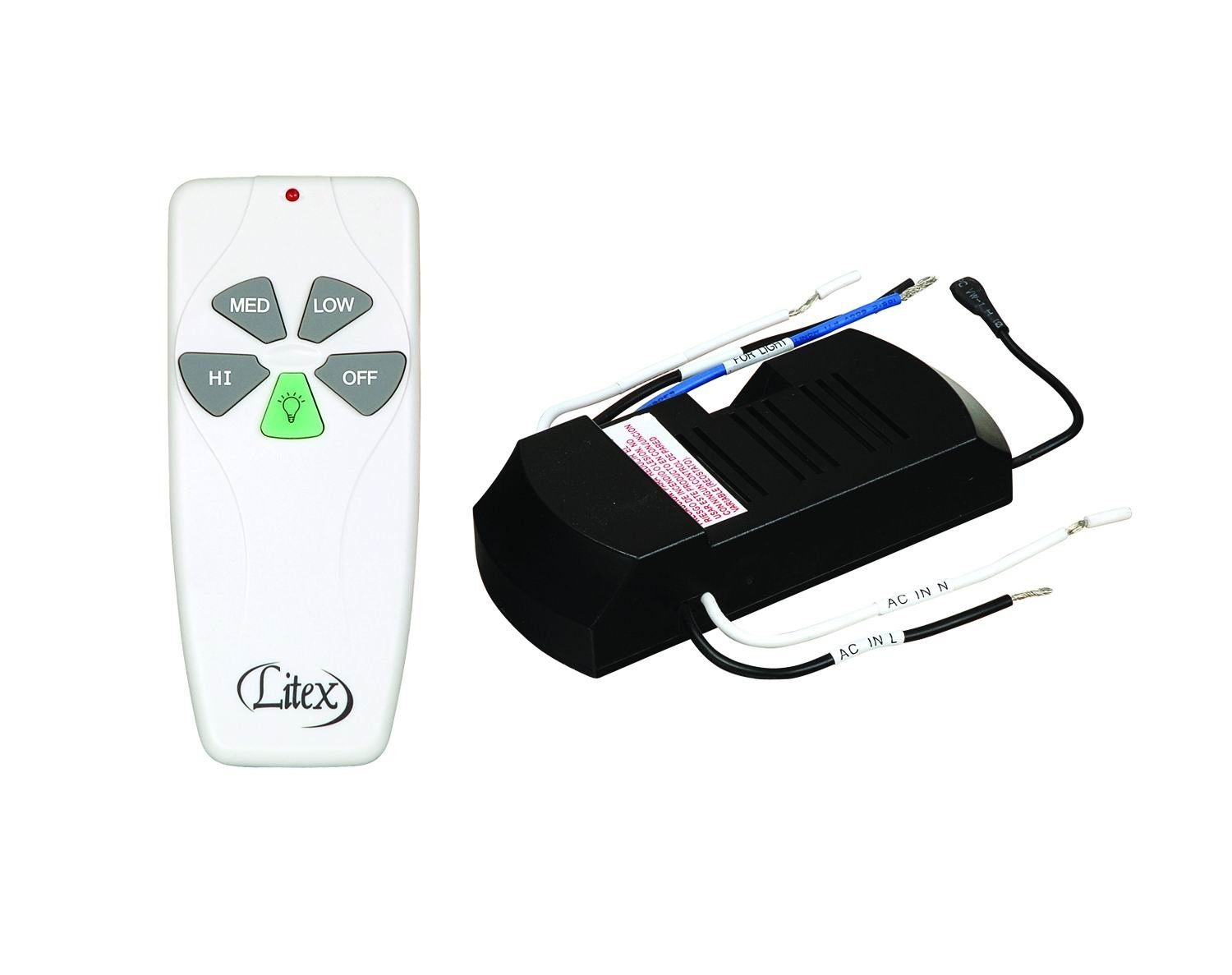Litex RCI-103 Universal Remote Control with Three Speeds and Full Range Dimmer