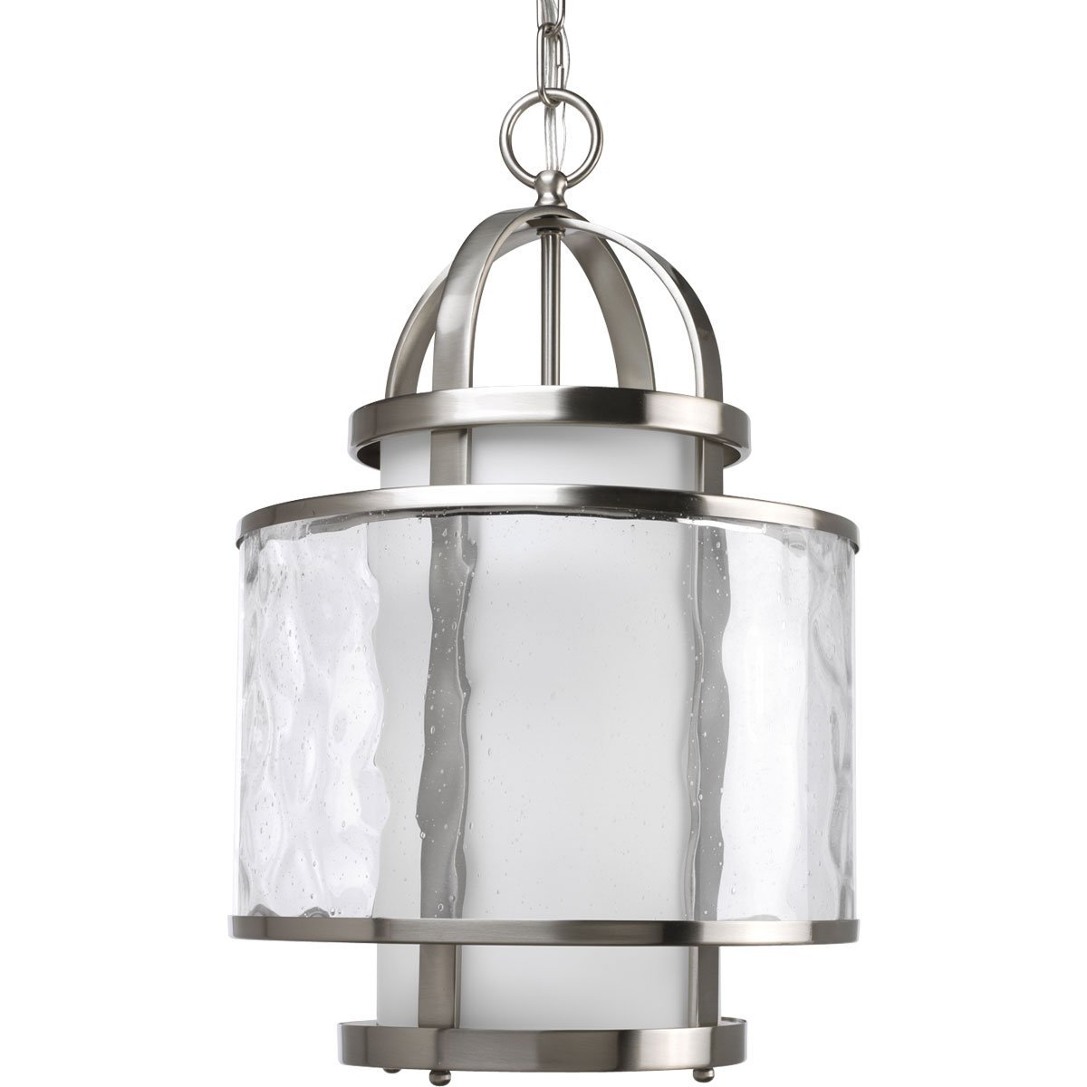 Progress Lighting P3701-09 1-Light Bay Court Foyer Fixture, Brushed Nickel
