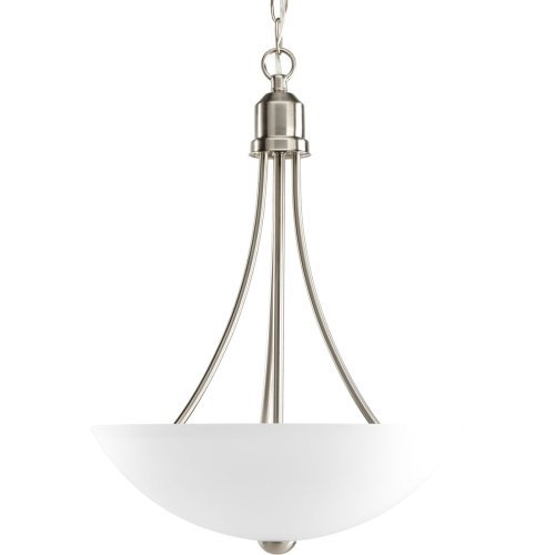 Progress Lighting P3914-09 Gather Collection 2-Light Foyer Pendant, Brushed Nickel