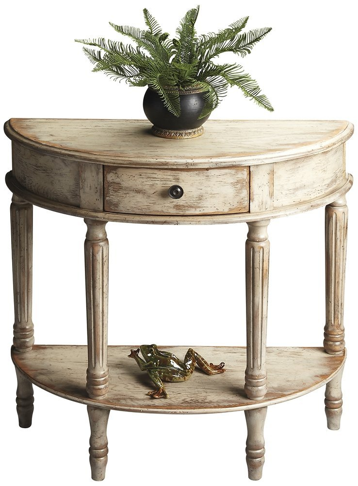 WOYBR 667230 Demilune Console Table