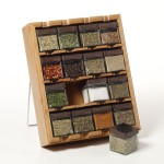 Kamenstein 16 Cube Bamboo Inspirations Spice Rack