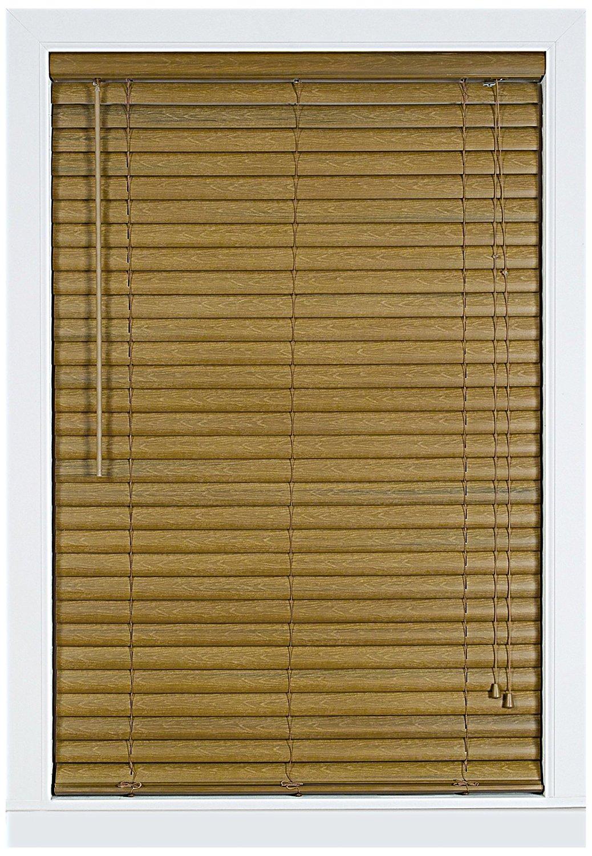 Achim Home Furnishings Luna 2-Inch Vinyl Blind, 29-Inch by 64-Inch, Woodtone
