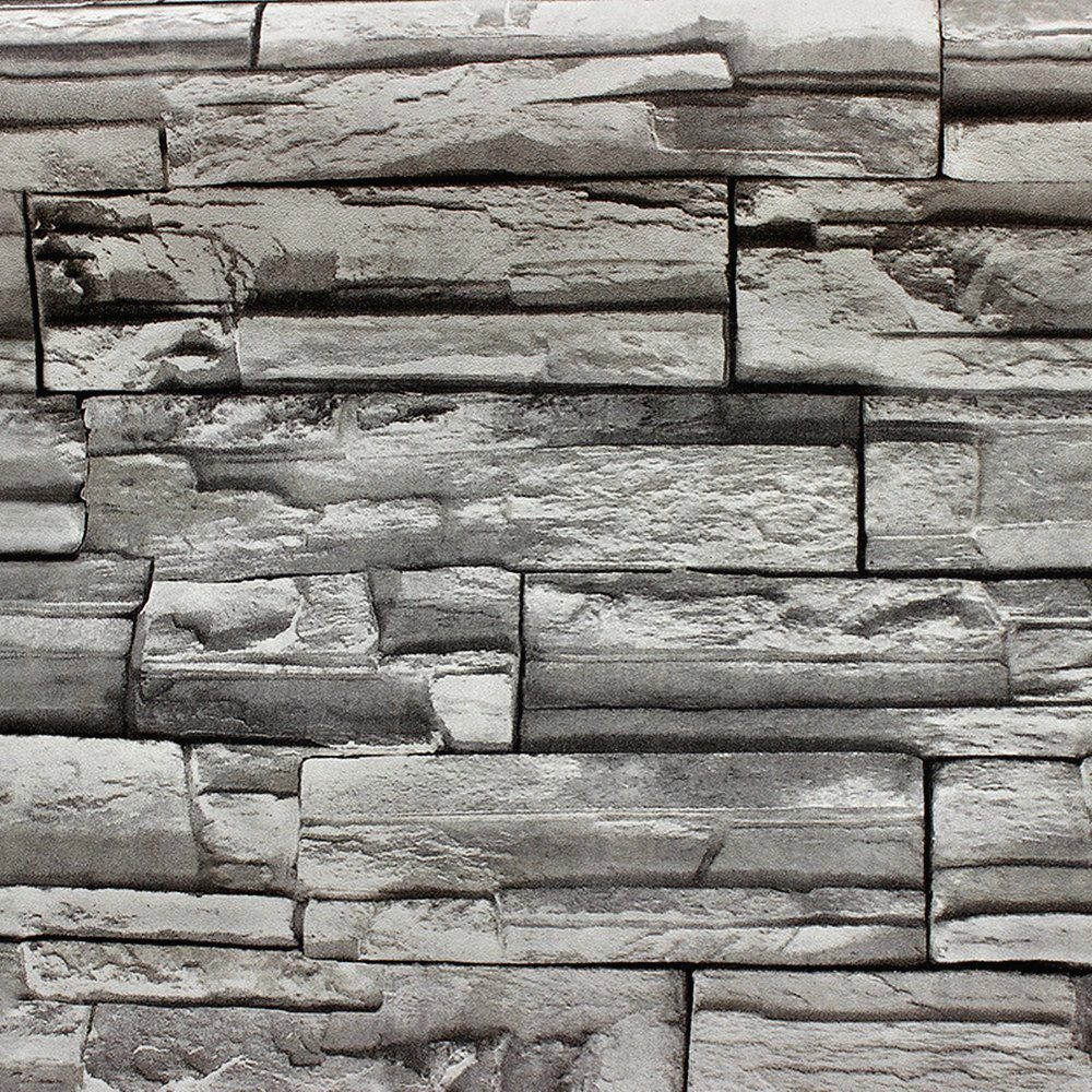 Blooming Wall: 20.8 In32.8 Ft=57 Sq Ft, Wallpaper Vinyl Faux Rustic Tuscan Brick Wallpaper for Walls,looks Real Up!grey