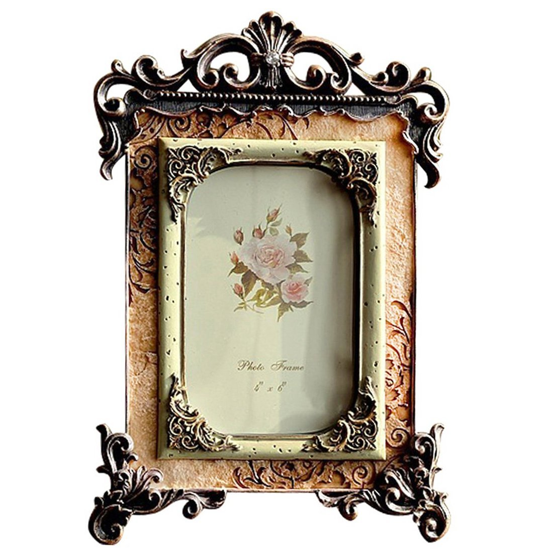 Gift Garden 4 by 6 Inch Vintage Picture Frame Friends Gift Photo Display 4x6