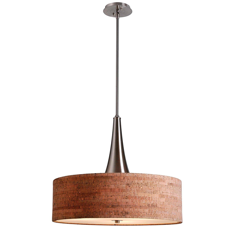 Kenroy Home 93013BS Bulletin 3-Light Pendant, Brushed Steel