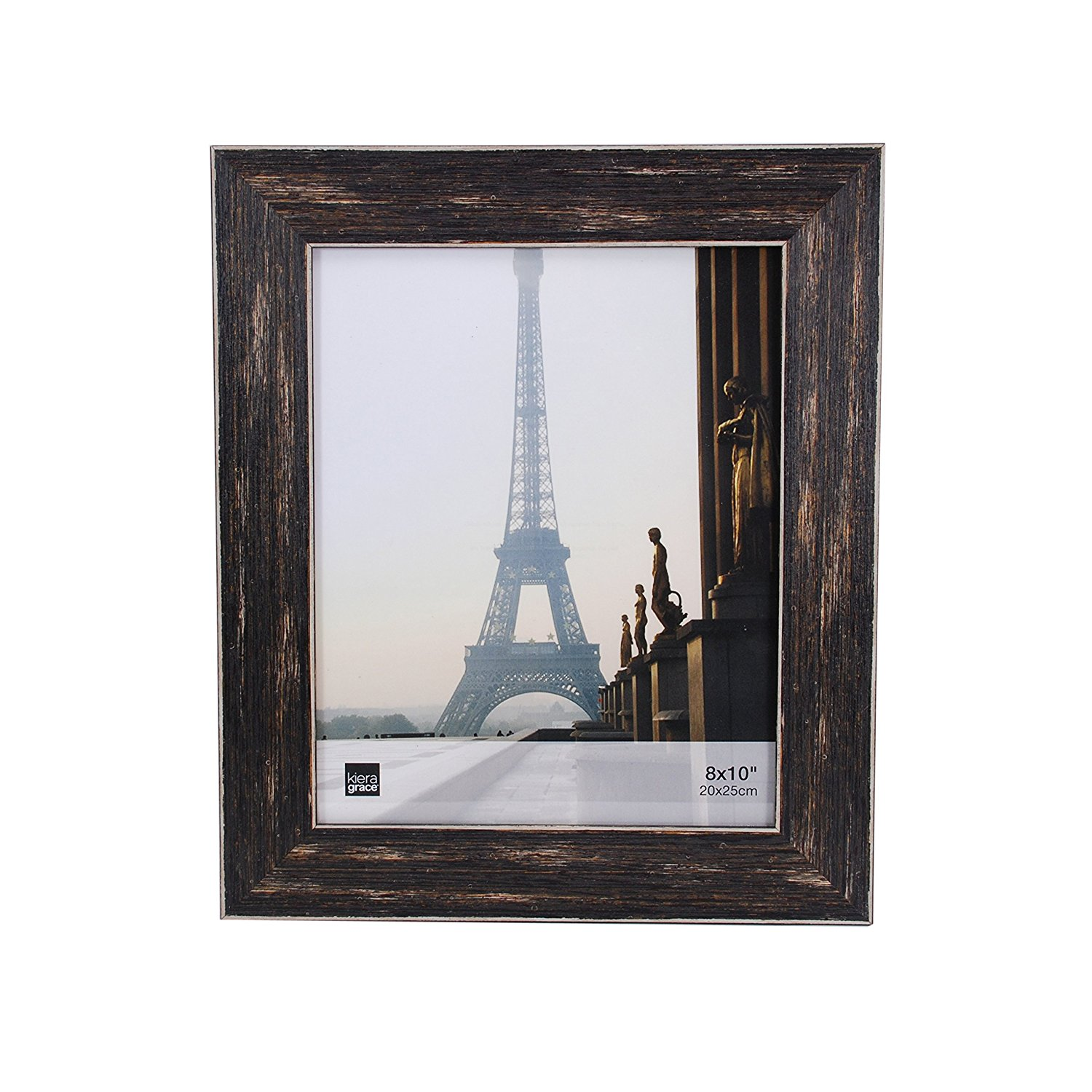 Kiera Grace Emery Picture Frame, 8 by 10 Inch, Weathered Barnwood Finish