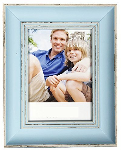 Lilian Vintage Light Blue Display 8x10 Desk/Wall Photo Frame - Wall Mounting Material Included