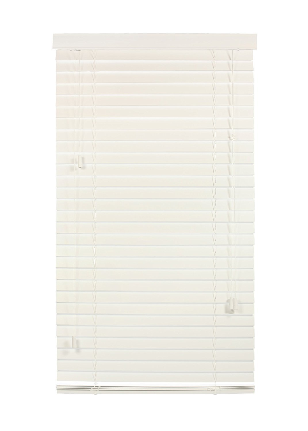 """Luxr Blinds Custom-Made 100% Real Wood 2"""" Slats Venetian Blinds: Easy-Mount Horizontal Window Treatment with Magnetic Valences- 36""""X60"""" Length, White"""
