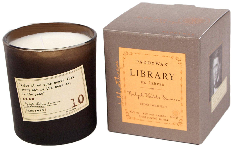 Paddywax Ralph Waldo Emerson Soy Wax Candle, Cedar/Wild Fern
