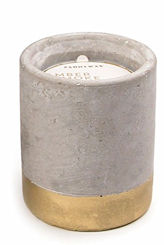 Paddywax Urban Collection Soy Wax Candle In Concrete Pot, Amber & Smoke