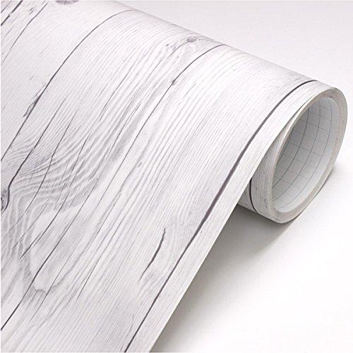 Peel & Stick Backsplash Vintage White Wood Panel Pattern Contact Paper Self-adhesive Removable Wallpaper 22344 : 1.64 Feet X 9.84 Feet