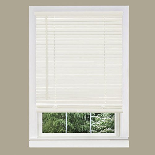 "White Window Blinds 1"" Slats Venetian Vinyl Mini-Blind Actual Size: 24"" (Width) x 72"" (Drop)"