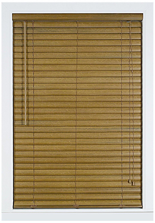 Achim Home Furnishings Luna 2-Inch Vinyl Blind, 23-Inch by 64-Inch, Woodtone