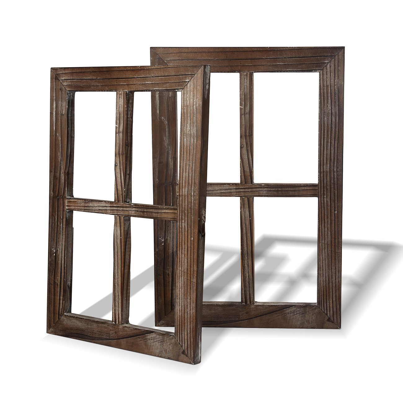 Cade Old Rustic Window Barnwood Frames -Decoration for Home or Outdoor, Not for Pictures (2, 11X15.8 inch)