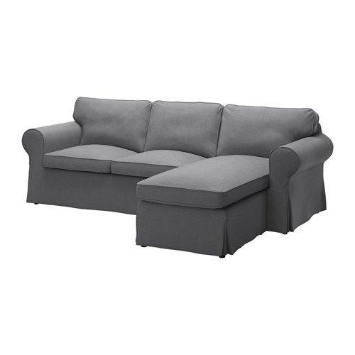 Ikea Cover for 3-seat sectional, Nordvalla dark gray 1228.8811.638