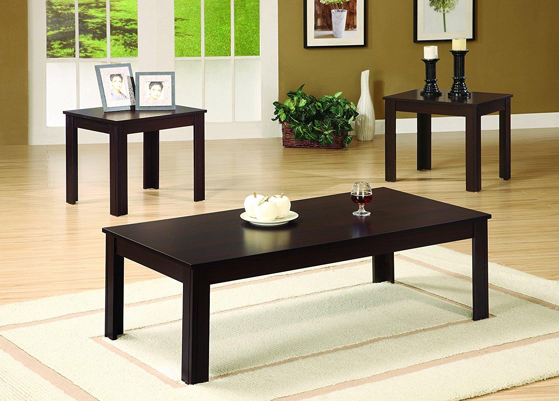 Coaster 700215 Occasional 3-Piece Table Set, Dark Walnut Finish