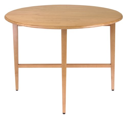 Winsome Wood 42-Inch Round Drop Leaf Table