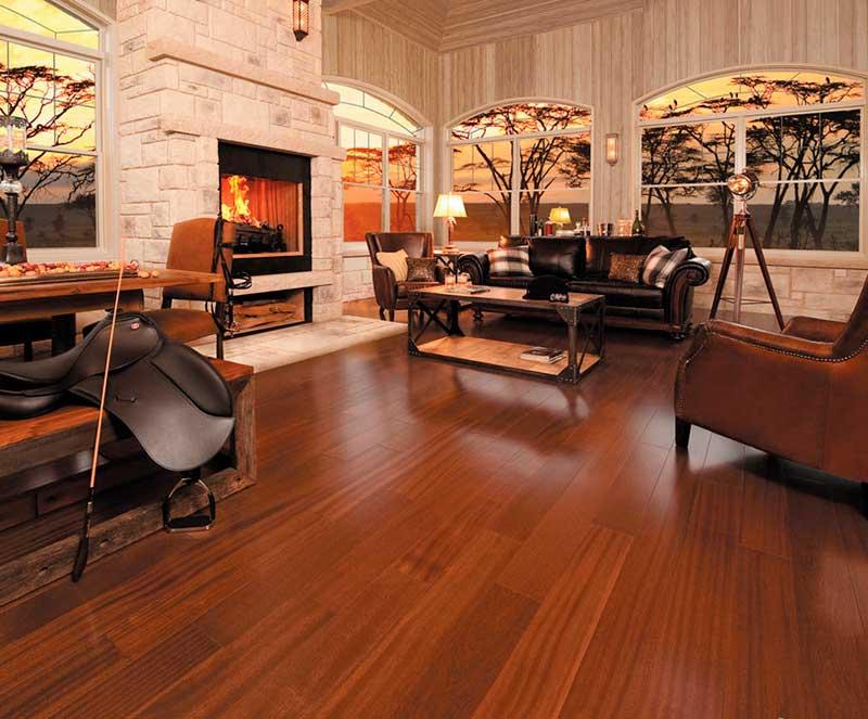 Beautiful solid wood floor in Africa