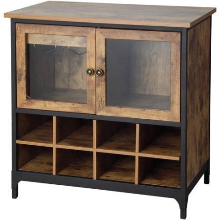 Better Enhance Homes and Gardens Rustic Country Wine, Pine Storage Cabinet