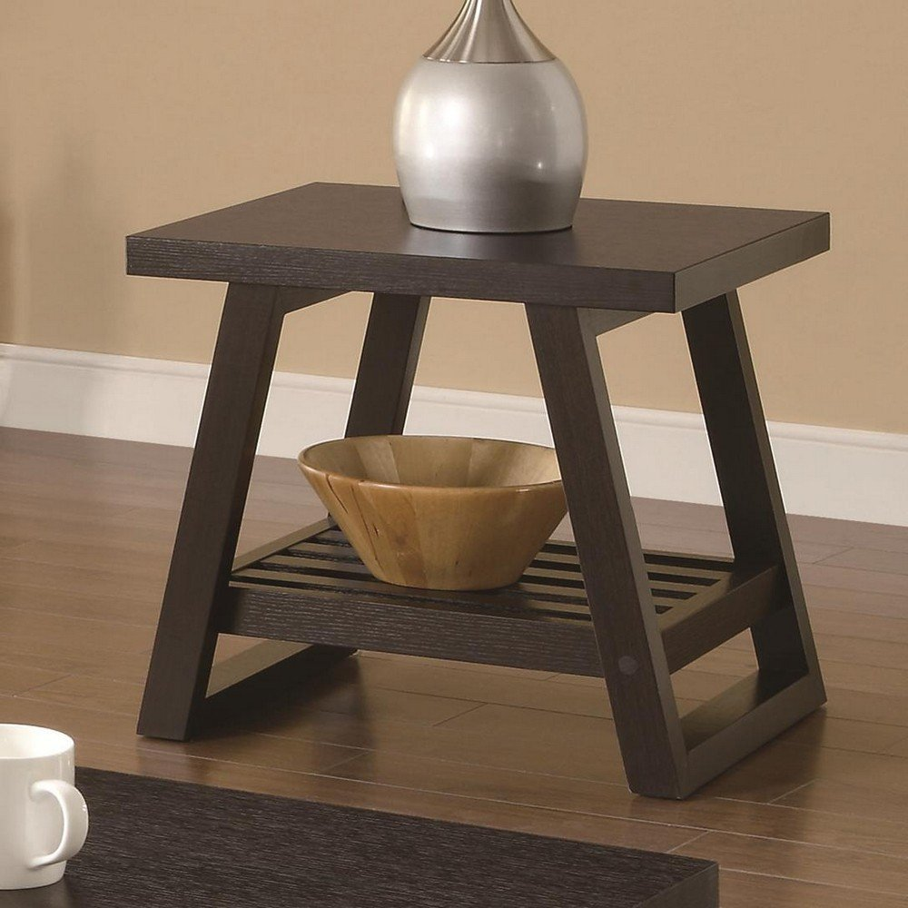 Coaster Home Furnishings 701867 Casual End Table, Cappuccino