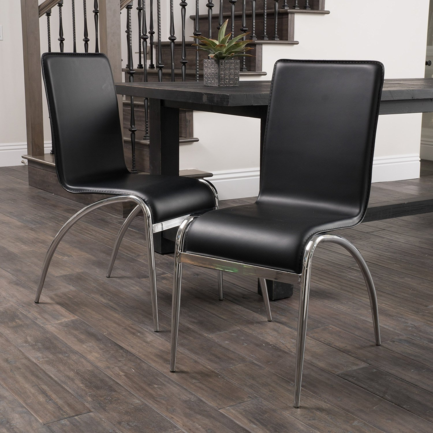 Enola Dining Furniture ~ Modern Design Dining Chairs (Black) (set of 2)