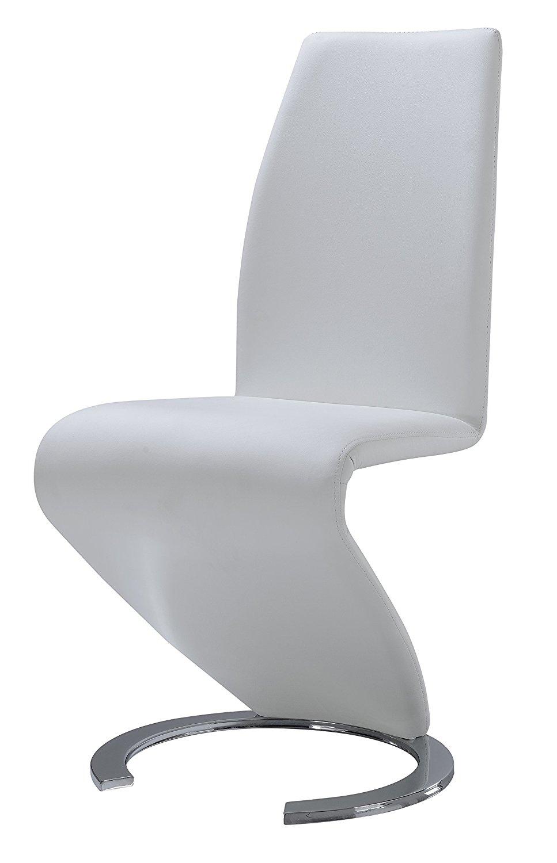Global Furniture Dining Chair, White PU