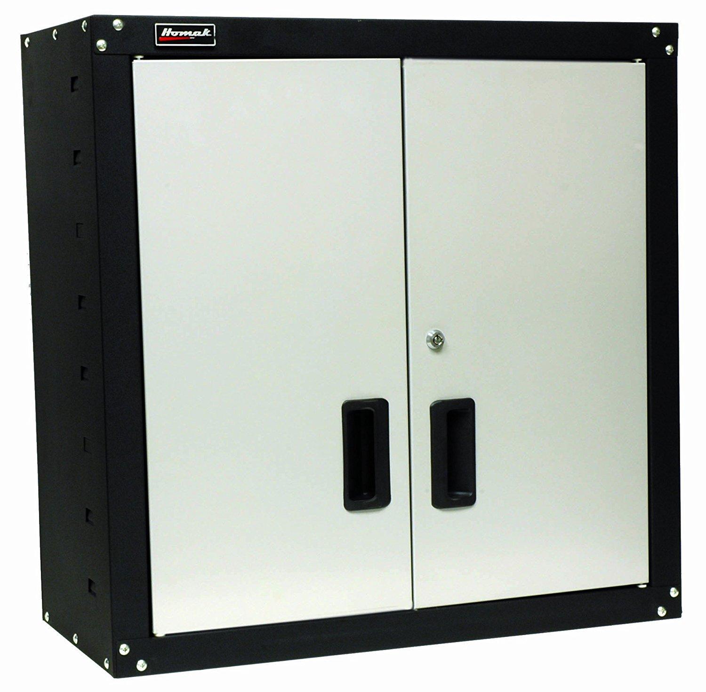 Homak GS00727021 2 Door Wall Cabinet with 2 Shelves, Steel