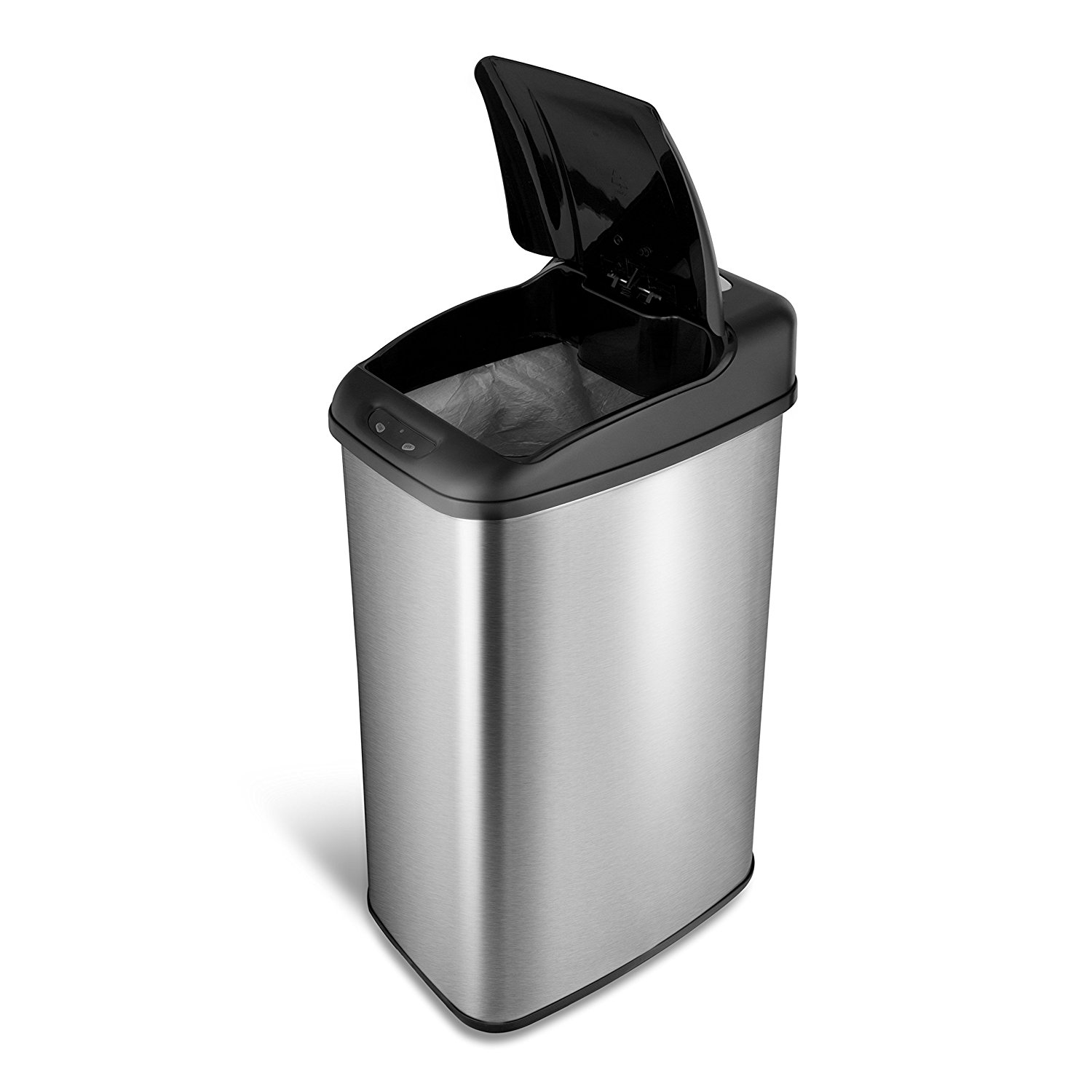 NINESTARS DZT-50-6 The Original Automatic Motion Sensor Trash Can, 13.2 Gal. / 50 L., Stainless Steel