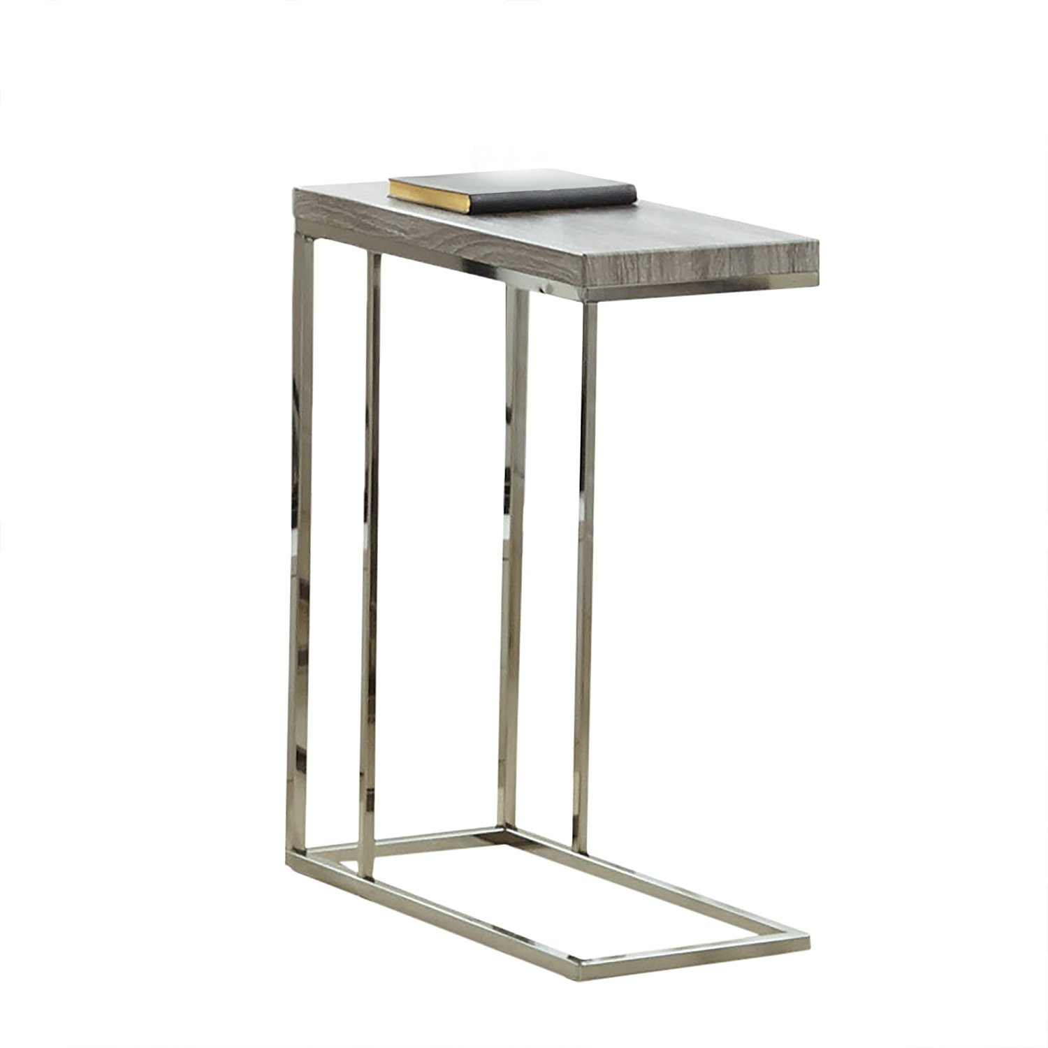 "Steve Silver Company Lucia Chairside End Table, 10"" x 18"" x 25"", Grey"
