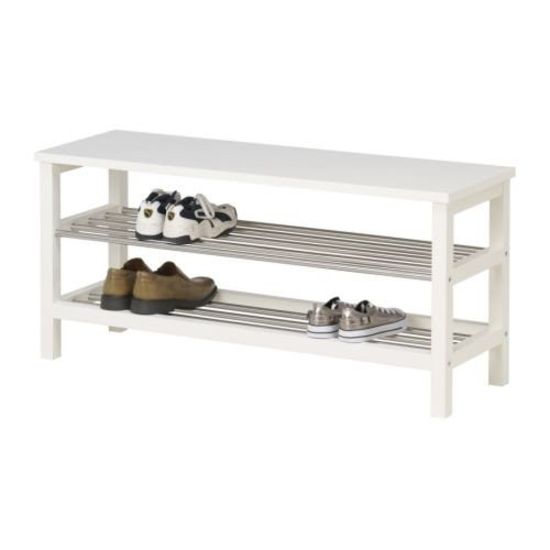 TJUSIG Bench with shoe storage, white