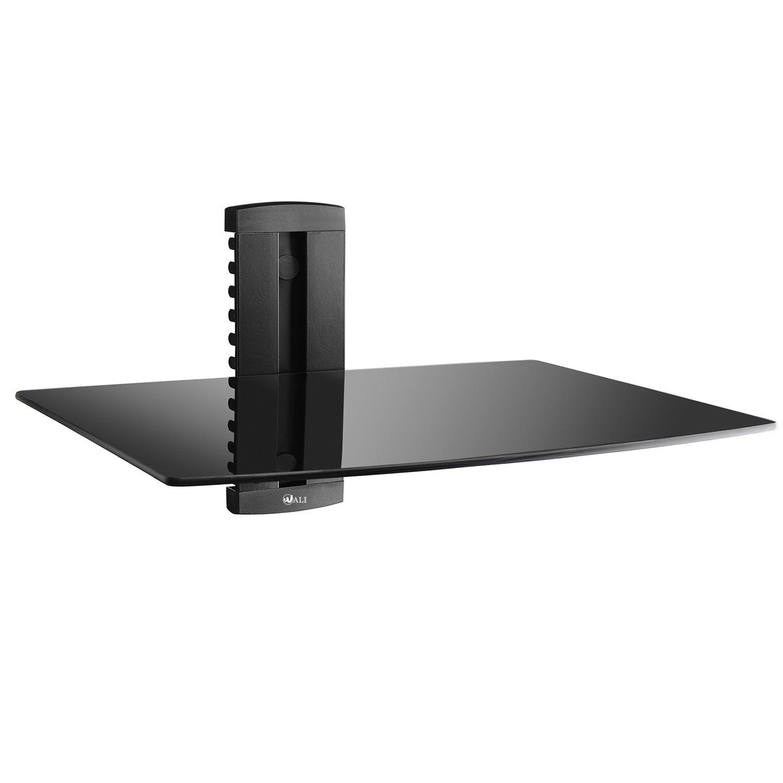 WALI WL-CS201-1 1X Black DVD DVR VCR Wall Mount Bracket Component Shelf