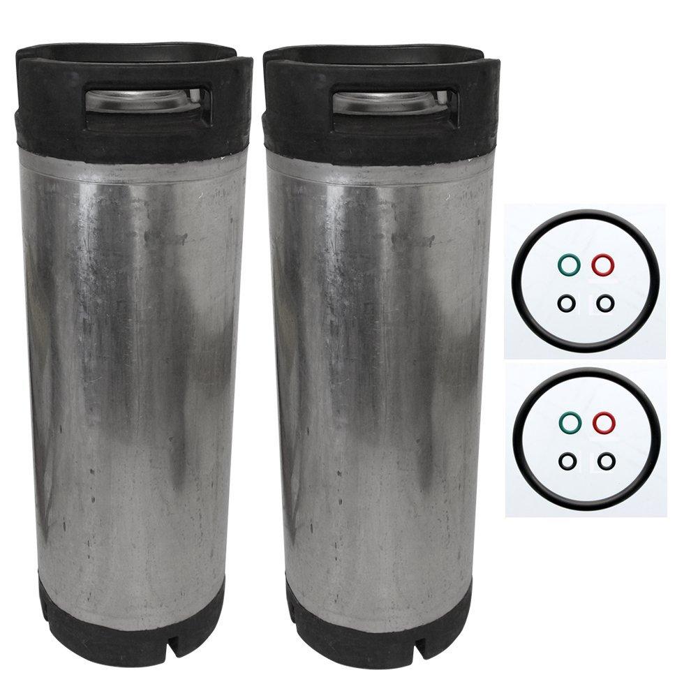 5 Gallon Cornelius Keg (Ball Lock) Reconditioned Beer Keg Set of 2
