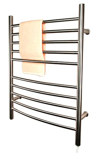 Amba RWP-CB Radiant Plug-In Curved Towel Warmer, Brushed