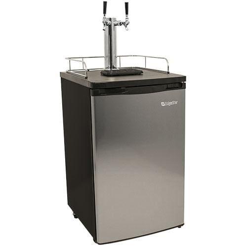 EdgeStar KC2000SSTWIN Full Size Stainless Steel Dual Tap Kegerator & Draft Beer Dispenser - Stainless Steel