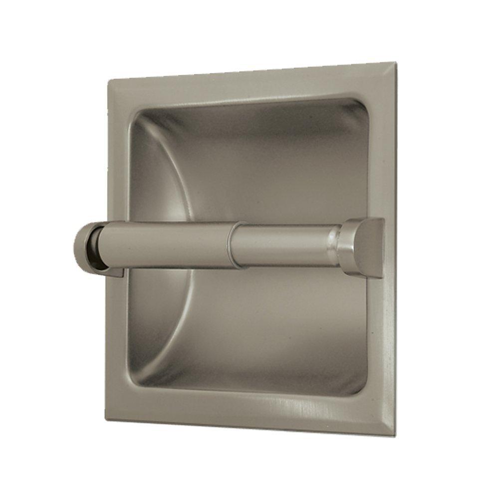 Gatco 780 Recessed Toilet Paper Holder, Satin Nickel