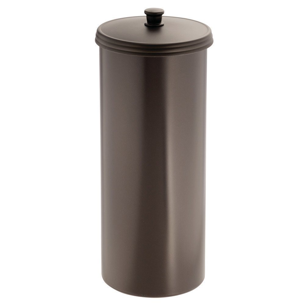 InterDesign Kent Bathware, Free Standing Toilet Paper Roll Holder for Bathroom Storage - Bronze