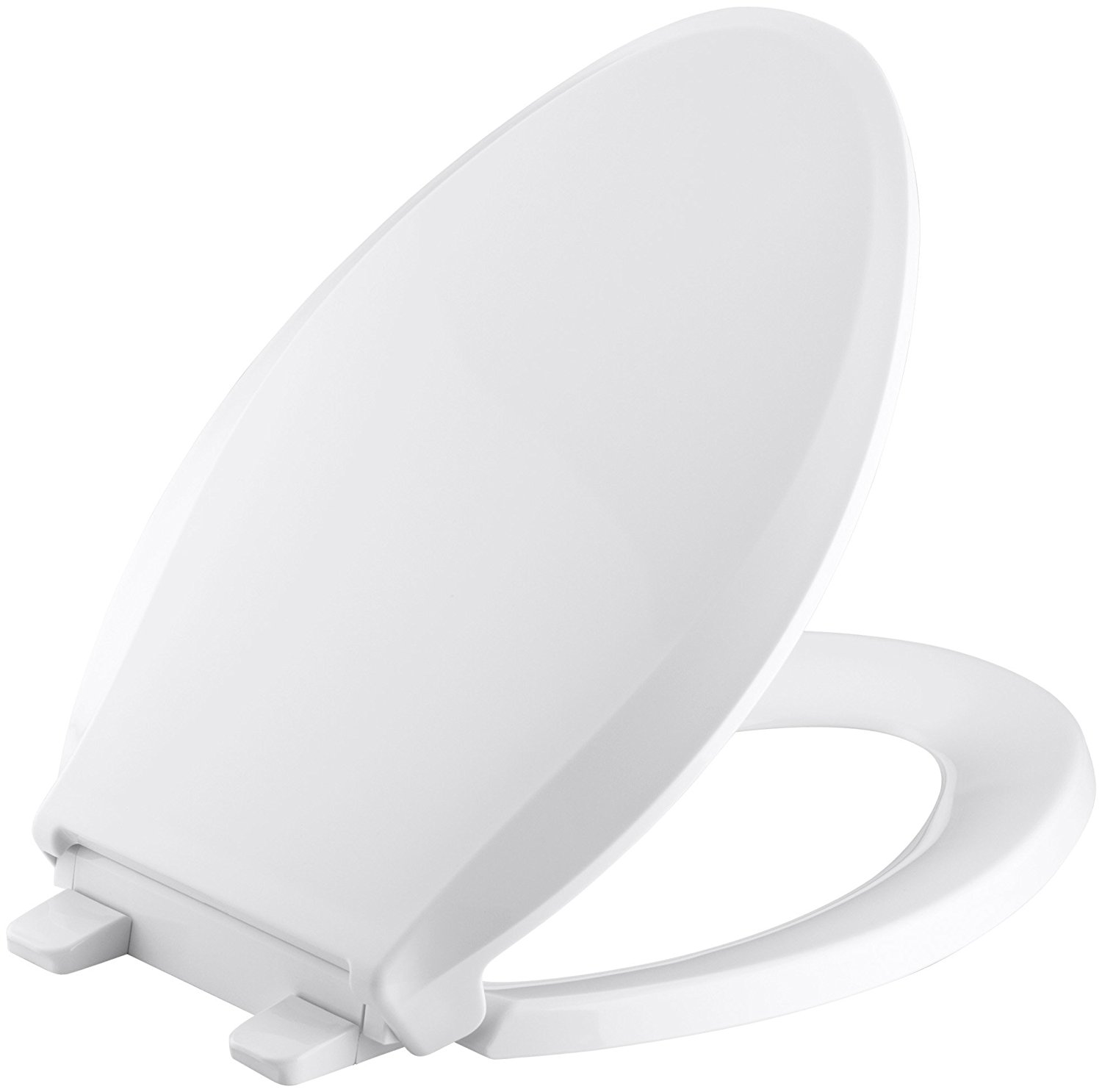 KOHLER K-4636-0 Cachet Quiet-Close with Grip-Tight Bumpers Elongated Toilet Seat, White