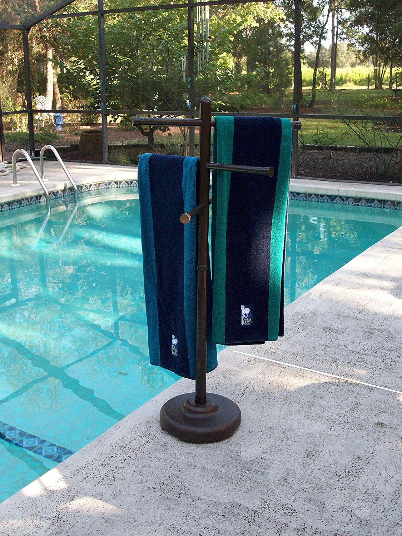 Outdoor Lamp company 401BRZ Portable Outdoor 3 Bar Towel Tree - Bronze