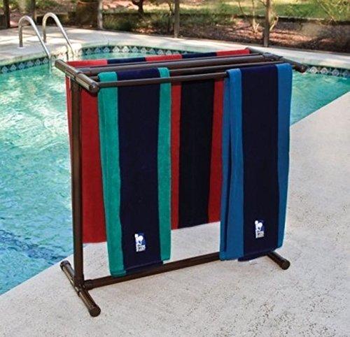 Outdoor Lamp company 405BRZ Portable Outdoor 5 Bar Towel Rack - Bronze